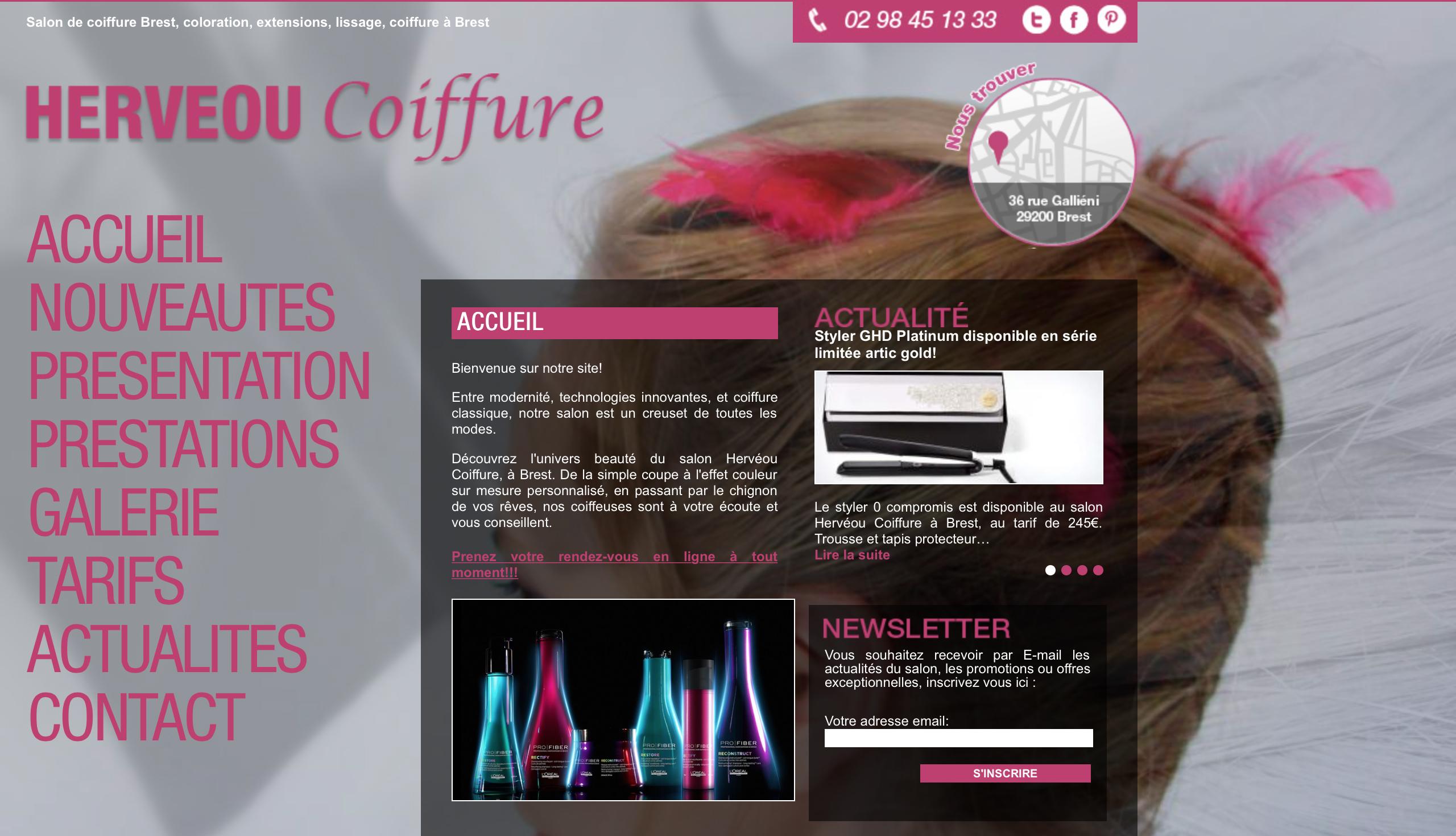 Hervéou Coiffure – un salon au top à Brest ...
